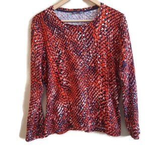 Jones New York | Red speckle longsleeve